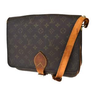 Auth LOUIS VUITTON Cult Sierre GM Shoulder Bag Monogram Leather M51252 36SB406