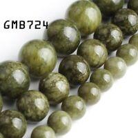 dark green jade stone round loose beads jewelry making 15'' strands 6/8/10mm