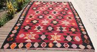 Turkish Rug 84''x113'' Vintage Area Rug Handmade Oriental Rug 214x290cm Kilim