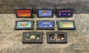 Lot Of 8 GBA Games (Nintendo Game Boy Advance) Cartridges [Cleaned / Tested]