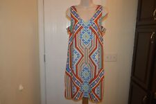Bo-Bel shift dress Indian, Southwest, western print summer dress SZ L  #710