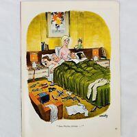 """Vintage 1969 Playboy Magazine Cartoon Smilby Dear Playboy Advisor 8"""" x 11"""""""