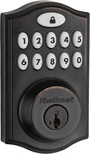 Kwikset 914TRL-ZW SmartCode Single Cylinder Touchpad Electronic Z wave +- Bronze