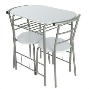 Small Table And 2 Chairs Breakfast Bar Kitchen Dining Room Modern Furniture Set