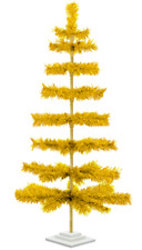 48'' Gold Tinsel Tree Christmas Holiday Tree 4Ft Table-Top Xmass Decor Golden