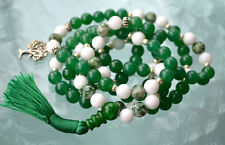 8 mm Green Jade Tree Agate mala Achieving Goals Memory Concentration Self Esteem