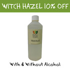 Witch Hazel - With or Free From Alcohol - Distilled Hydrosol Natural Toner