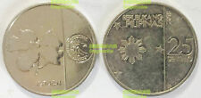 Philippines 25 sentimo 2018-2019 flower new issue 20mm Steel Coin UNC