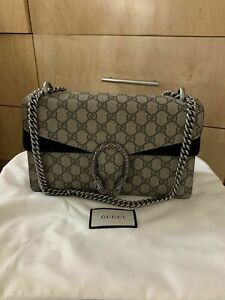 Authentic Gucci Dionysus Small GG Supreme Canvas Shoulder Bag