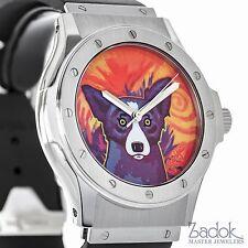 Hublot George Rodrigue Blue Dog Ltd. Stainless Steel 41mm Men's Automatic Watch