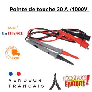 Pointe de Touche Multimètre 20A Fine cache Aiguille Cordon Cable de Mesure