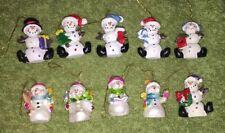 "10"" Miniature Snowmen Doll House Christmas Tree Ornament"