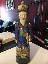 "Large Old Antique 14""Chinese Porcelain Famille Rose Statue Figurine Signed L@@k"
