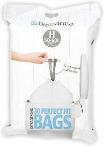 Brabantia Dispenser 50-60L Bin Liner Code H (Pack of 30)