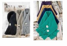 Mud Pie Holiday Women's Winter Warm Up Ellie Convertible Button Scarf 860A016