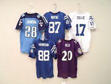 Lot of 5 NFL Boy's Jerseys Size XL Johnson Reed Colts Collie Wayne Harrison