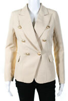 Lioness Womens Double Breasted Palermo Blazer Jacket Light Nude Size XS