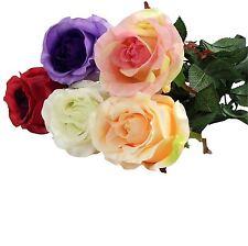 Single Stem Semi Open Bella Rose Artificial Flower