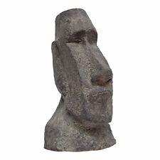 Easter Island Head Garden Ornament in Grey Fibreclay 40cm