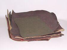 Konvolut Leder Reste Sitzbezüge Lehnen Bezug oder für Buchbinder Geprägte Dekore