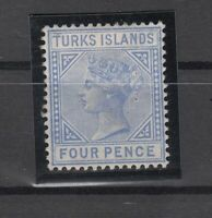 C2971/ BRITISH TURKS ISL – VICTORIA - SG # 50 MINT MH – CV 210 $