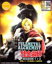 Fullmetal Alchemist Season 1 + 2 | TV Series + 2 Movies | DVD | Eng/Jap Audio
