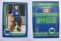 2015 SCA Ken Lockett vancouver canucks goalie never issued produced #d/10