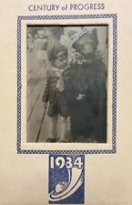 VINTAGE ANTIQUE 1934 WORLDS FAIR CHICAGO CENTURY OF PROGRESS BLACK BEAR PHOTO IL