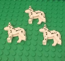 Lego X3 New Dalmatian Dogs / White With Black Spots City Animal Lot