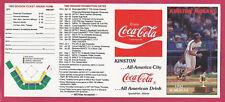 Kinston Indians 1992 Photo Schedule Carolina League Minors –Coca-Cola - unfolded