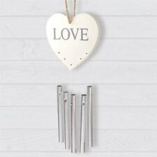 Wooden Plaque Love Message With Chimes Chic Hanging Home Decoration Gift House