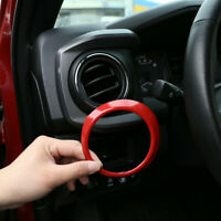 Car Dashboard Central Control Air Outlet Ring For Toyota Tacoma 2016 - 2020 Red