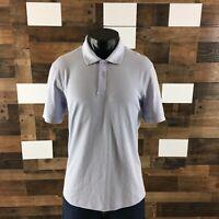 Men's Lululemon Tech Pique Polo Rugby Stretch Plain Knit Pale Lavender Sz Medium