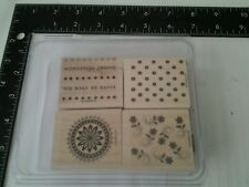 Stampin Up Boho Backgrounds Set of 4 Flora