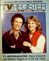 TV Guide 1983 Steve Edwards Melody Rogers Regional TV Register OC VG COA