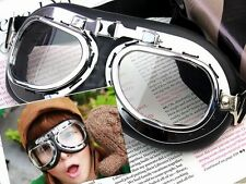 SCOOTER FLYING GOGGLES PILOT MOTORCYCLE SKI CYCLING GOGGLE MOTOCROSS GLASSES GU