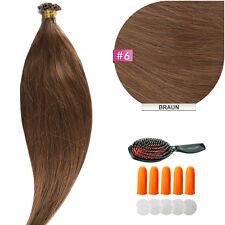 Keratin Bonding Hair Extensions 100% Remy Echthaar Strähnen Haarverlängerung