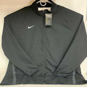 Nike Dri-FIT Men 4XL Team Woven Full Zip Jacket Black AJ3372-002 NWT