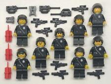 8 Lego Armee Soldaten Minifigs Menge: Vintage Polizei Figuren Waffen Swat Team