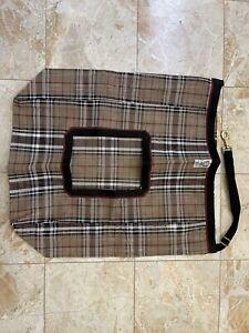 Kensington Hay Bag With Rim Black Plaid Two Flakes