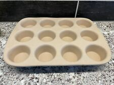 New listing Pampered Chef Classics Stoneware Muffin Pan Family Heritage Collection 12 Count