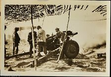 WWII US Army 40th Division Photo 105 MM Howitzer in action in Philippines