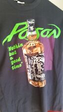 POISON 1989 Nothing But a Good Time vintage licensed concert tour shirt MD