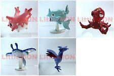 B#222] 5x Pokemon Figures 4-5cm: Corsola Remoraid Octillery Mantine Skarmory