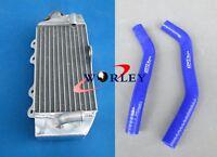 Aluminum radiator & Blue Hose For Yamaha YZ85 YZ 85 2002-2013 02 03 04 05 06 07