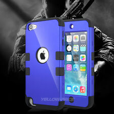 Newest RUBBER IMPACT ARMOR CASE BACK GUARD For iPod Touch 6 5th Gen 3 Layers