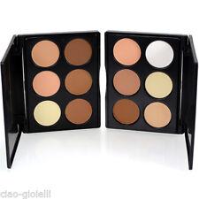 Ladies Makeup Blush Bronze Highlight& Powder Palette Golden Beauty 6Color