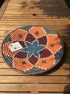 Fair trade star  Basket - African Wall décor - Ethical Woven bowl Rwenzori