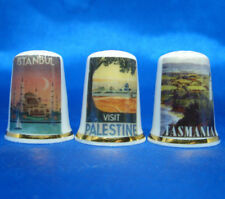 Birchcroft Thimbles -- Set of Three -- Travel Posters Eastern