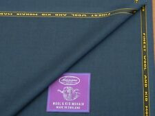 WOOL & KID MOHAIR, BLACK WARP / BLUE WEFT SUITING FABRIC - MADE IN ENGLAND 3.5M